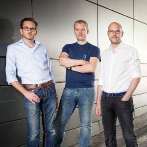 Die drei Gründer der auxmoney GmbH
